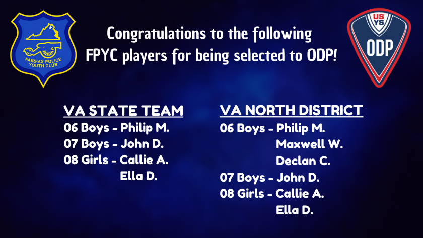 2019-20 ODP Selections